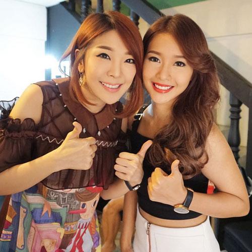 Khả Ngân trên sóng truyền hình Thái Lan