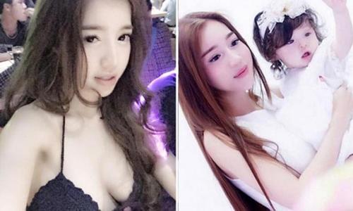 Hình ảnh của Elly Trần và bé Cadie Mộc Trà trên trang Lollipop của Singapore