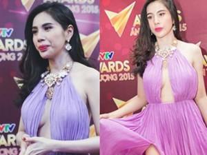 Thủy Tiên táo bạo diện váy không nội y trên sóng VTV