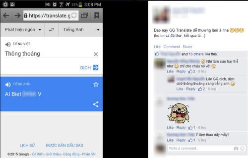 """Cộng đồng mạng chia sẻ định nghĩa nhầm lẫn về từ """"thông thoáng"""" của Google Translate."""