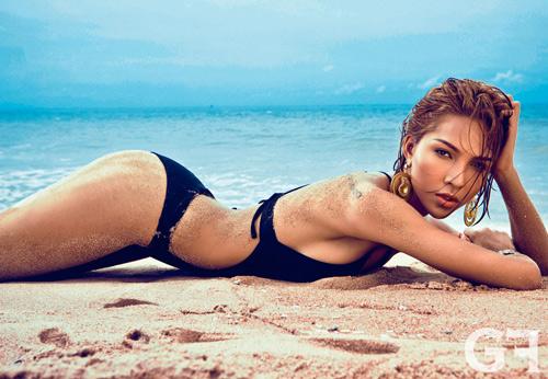 Siêu mẫu Minh Triệu thả dáng sexy trên biển - 4