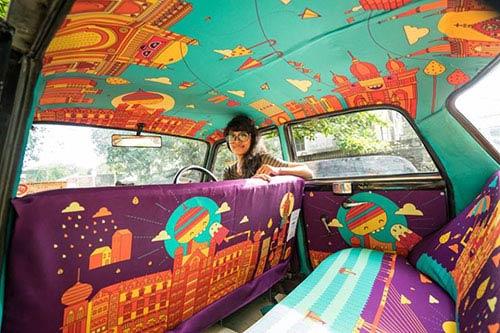 """Ấn tượng với """"taxi nghệ thuật"""" tuyệt đẹp tại Ấn Độ - 4"""