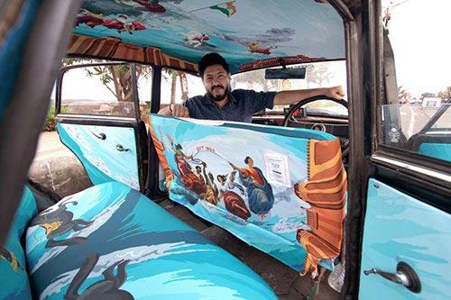 """Ấn tượng với """"taxi nghệ thuật"""" tuyệt đẹp tại Ấn Độ - 5"""