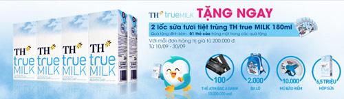 TH True Milk tặng 2 lốc sữa tươi cho 8.000 khách hàng may mắn trên Deca - 1