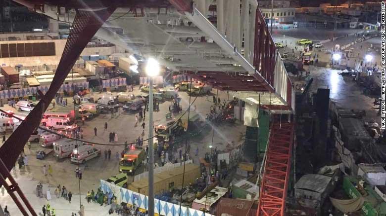 Hiện trường sập cần cẩu tại thánh đường Hồi giáo lớn nhất thế giới - 3