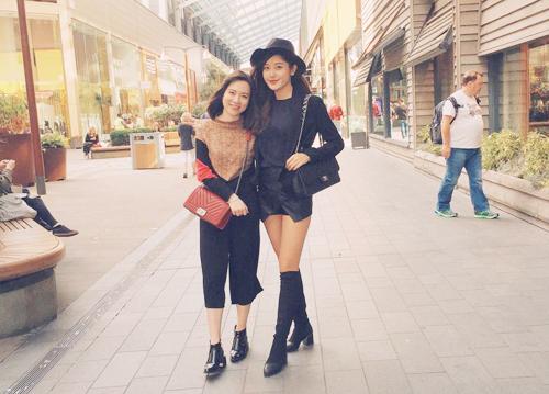 """Đọ street style """"chất lừ"""" của 2 á hậu Việt ở trời Tây - 7"""