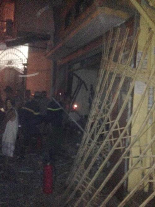Hiện trường vụ nổ ở ngách 64 phố Thông Phong: Ảnh Ngọc Diệp