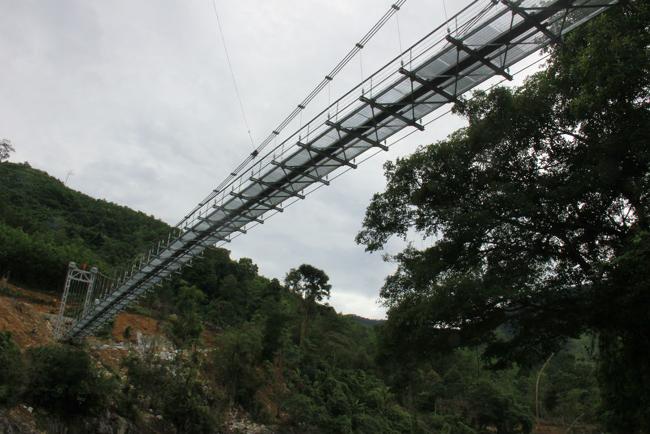 """Cận cảnh """"cầu treo trên mây"""" ở Quảng Ngãi - 4"""