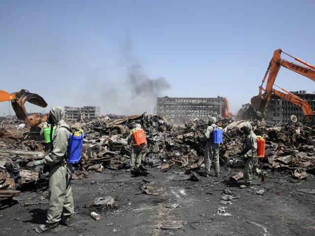 TQ ngừng tìm kiếm nạn nhân thảm kịch nổ kho hóa chất Thiên Tân - 1