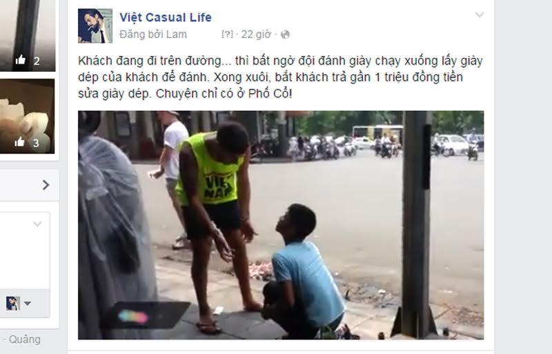 """HN: Làm rõ 2 thanh niên đánh giày """"chặt chém"""" du khách - 2"""