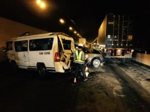 Đà Nẵng: Tông xe liên hoàn trong hầm đường bộ Hải Vân