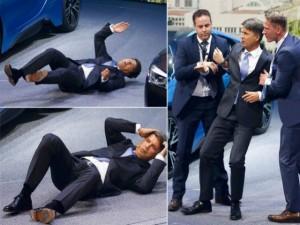 """Video: Sếp lớn BMW """"gục ngã"""" khi thuyết trình tại Frankfurt 2015"""