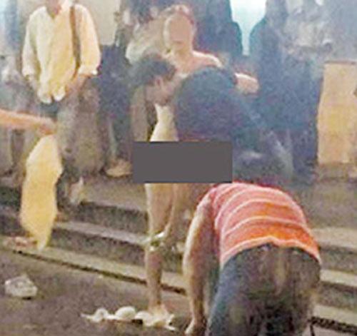Cô gái khỏa thân giữa phố vì bạn trai từ chối mua iPhone 6S - 2
