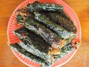Ngon lạ thịt nhái cuốn lá lốt ở vùng quê xứ Nghệ