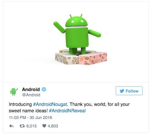 """Ký tự """"N"""" trong Android N là viết tắt của từ gì? - 1"""