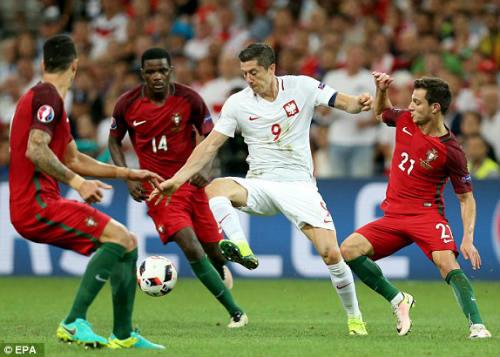 Góc ảnh EURO: Ronaldo thở phào, Lewandowski chết lặng - 1