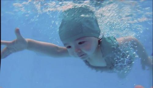 Mới 2 tuổi, con gái Elly Trần đã bơi như vận động viên - 1