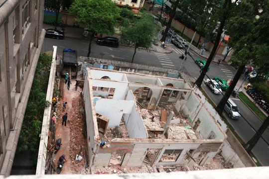 Biệt thự cổ ở trung tâm TP HCM bị phá dỡ - 4