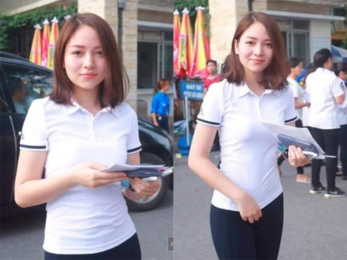 Cô gái bất ngờ nổi tiếng trong ngày thi ĐH đầu tiên - 1