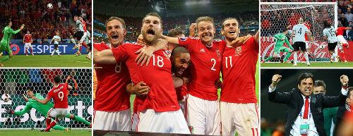 """Lại lập kỳ tích EURO, ĐT xứ Wales như """"phát cuồng"""" - 1"""