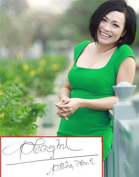 """Chữ kí """"bá đạo"""" của hàng loạt mỹ nhân Việt - 1"""