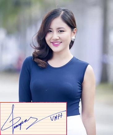 """Chữ kí """"bá đạo"""" của hàng loạt mỹ nhân Việt - 10"""