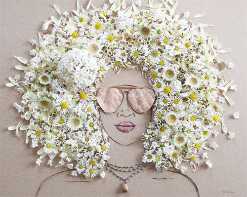 Thiếu nữ gợi cảm hút hồn làm từ hoa tươi - 2