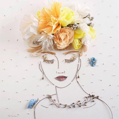 Thiếu nữ gợi cảm hút hồn làm từ hoa tươi - 6