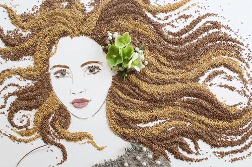 Thiếu nữ gợi cảm hút hồn làm từ hoa tươi - 7