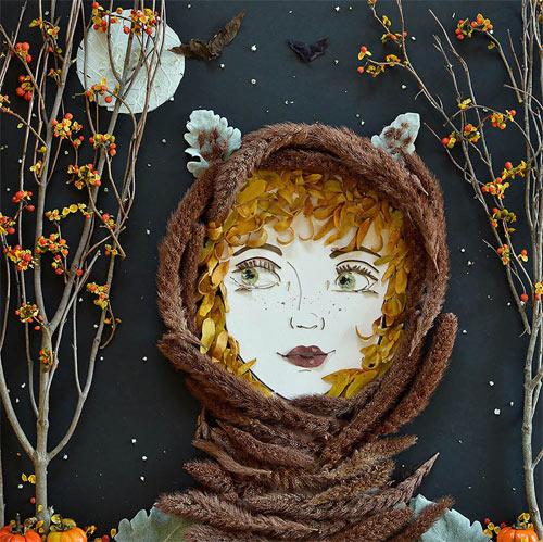 Thiếu nữ gợi cảm hút hồn làm từ hoa tươi - 8