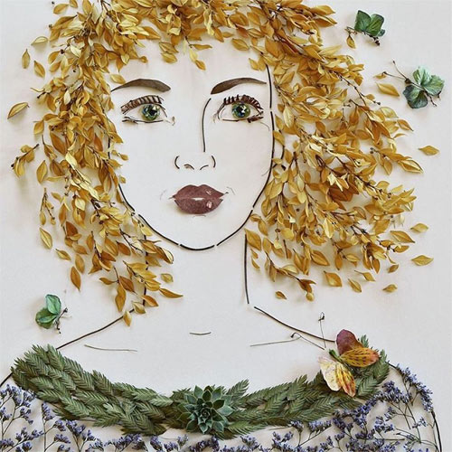 Thiếu nữ gợi cảm hút hồn làm từ hoa tươi - 10
