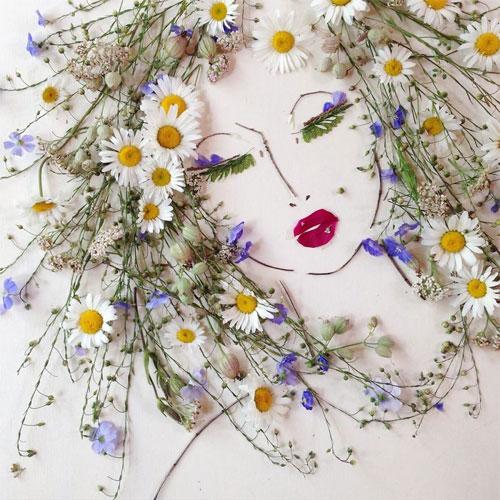 Thiếu nữ gợi cảm hút hồn làm từ hoa tươi - 11
