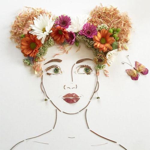 Thiếu nữ gợi cảm hút hồn làm từ hoa tươi - 12