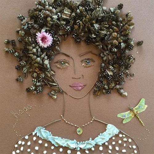 Thiếu nữ gợi cảm hút hồn làm từ hoa tươi - 13