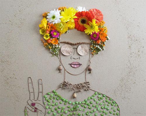 Thiếu nữ gợi cảm hút hồn làm từ hoa tươi - 14