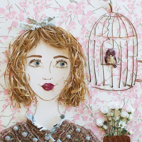Thiếu nữ gợi cảm hút hồn làm từ hoa tươi - 16
