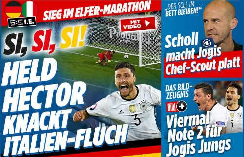 """""""Trả nợ"""" Italia, báo Đức ví trận đấu như phim - 1"""