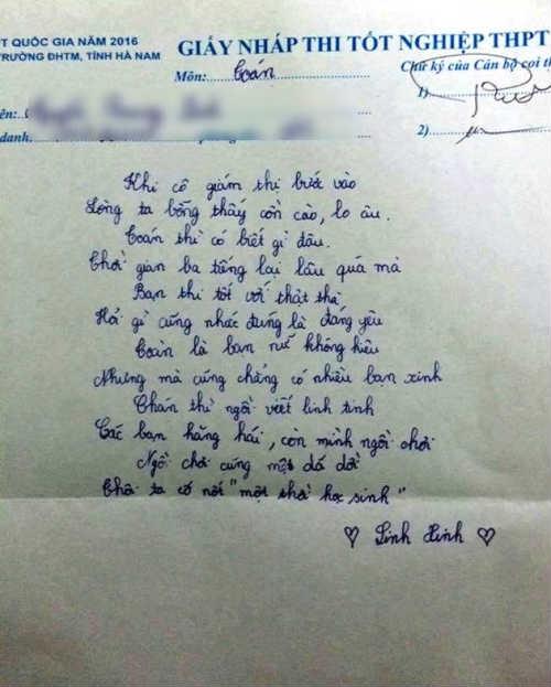 Phì cười với bài thơ viết vội của sĩ tử mùa thi - 1
