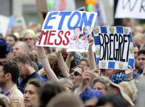 50.000 người rầm rộ biểu tình kêu gọi Anh ở lại EU - 8