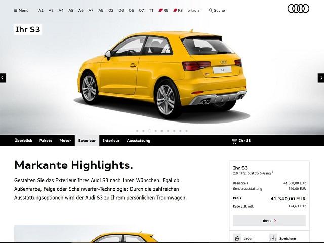 Đã có thể đặt mua các phiên bản Audi S3 2017 - 1