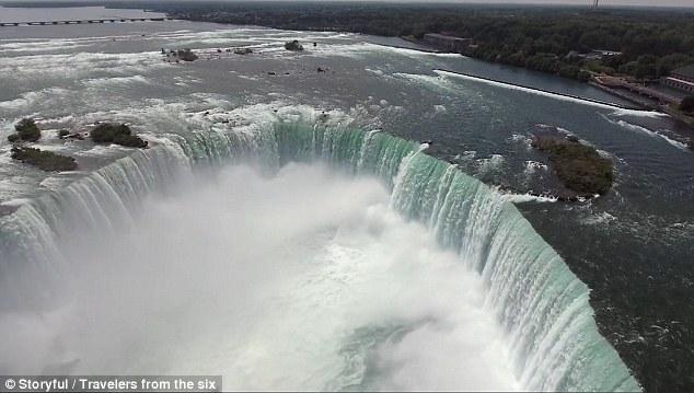Xem thác Niagara đẹp hùng vĩ từ trên cao - 1