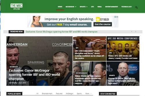 """Tin thể thao HOT 5/7: """"Gã hề UFC"""" ra mắt website riêng - 1"""