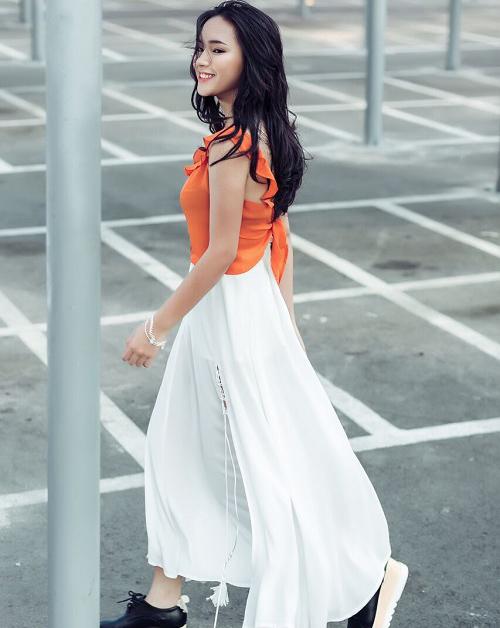 Hot girl cá tính Châu Bùi bất ngờ dịu dàng xuống phố - 2