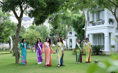 Thí sinh Hoa hậu bản sắc Việt toàn cầu khoe sắc ở FLC Vĩnh Phúc Resort - 10