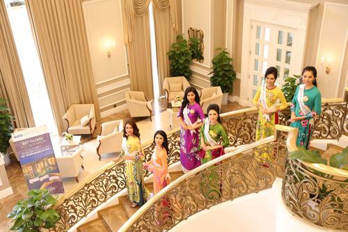 Thí sinh Hoa hậu bản sắc Việt toàn cầu khoe sắc ở FLC Vĩnh Phúc Resort - 11