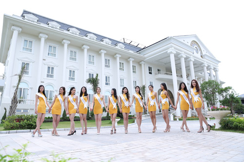 Thí sinh Hoa hậu bản sắc Việt toàn cầu khoe sắc ở FLC Vĩnh Phúc Resort - 4