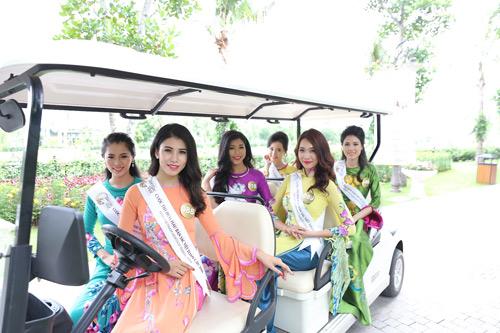 Thí sinh Hoa hậu bản sắc Việt toàn cầu khoe sắc ở FLC Vĩnh Phúc Resort - 5