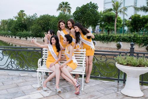Thí sinh Hoa hậu bản sắc Việt toàn cầu khoe sắc ở FLC Vĩnh Phúc Resort - 6