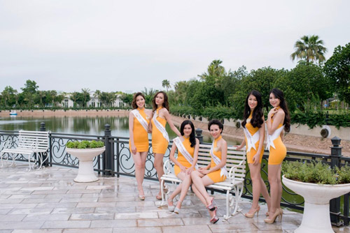 Thí sinh Hoa hậu bản sắc Việt toàn cầu khoe sắc ở FLC Vĩnh Phúc Resort - 7