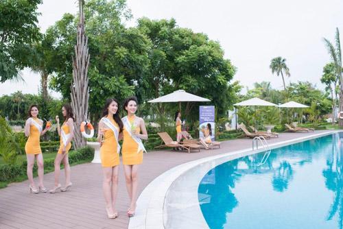 Thí sinh Hoa hậu bản sắc Việt toàn cầu khoe sắc ở FLC Vĩnh Phúc Resort - 8